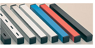 Available in steel or aluminium, plain or perforated, and a choice of colours